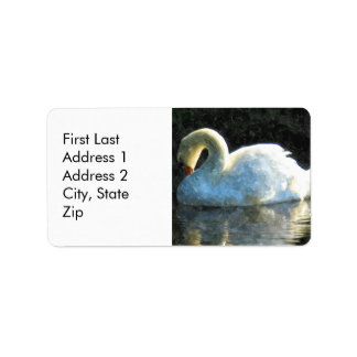 Swan Personalized Address Labels