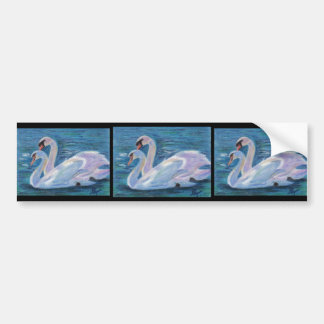 Swan Lake aceo Bumper Sticker