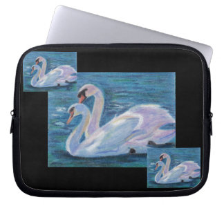 Swan Lake aceo Laptop Sleeve