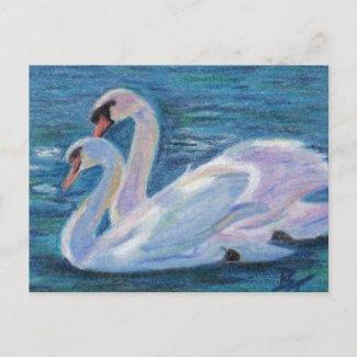 Swan Lake aceo Postcard postcard