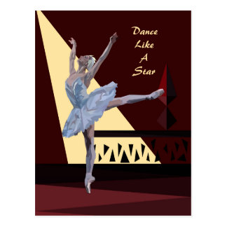 'Swan Lake Ballerina' custom Postcard