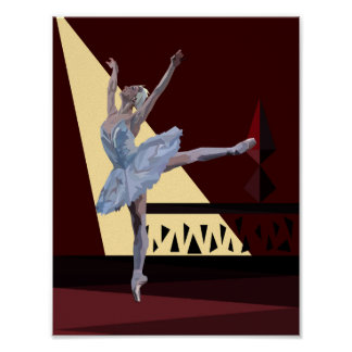 'Swan Lake Ballerina' Poster