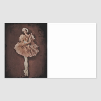 Swan Lake Ballerina Rectangular Sticker