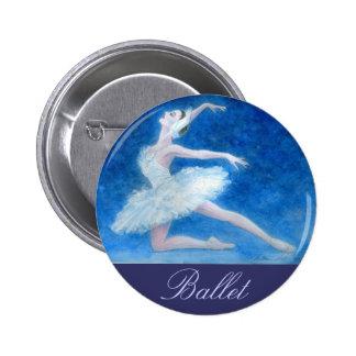 Swan Lake Ballet Button