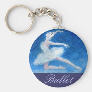 Swan Lake Ballet Key Chain