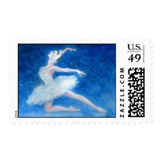 Swan Lake Ballet Postage Stamp