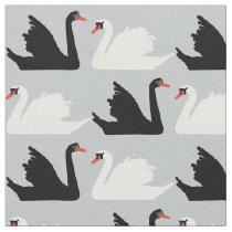 Swan Lake Black and White swan Fabric