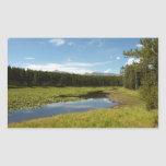 Swan Lake I at Grand Teton National Park Rectangular Sticker