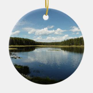Swan Lake II at Grand Teton National Park Ceramic Ornament
