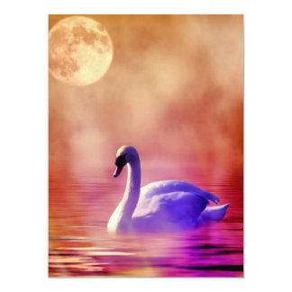 SWAN LAKE ~ 6.5X8.75 PAPER INVITATION CARD
