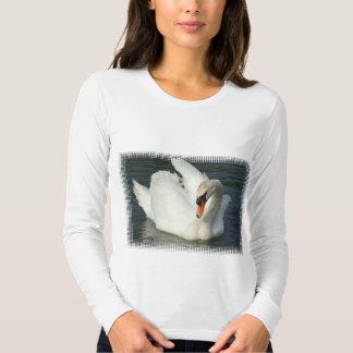 Swan Lake Long Sleeve Ladies T-Shirt