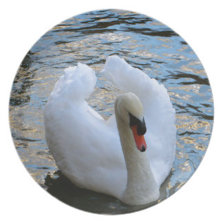 Swan Lake Melamine Plate