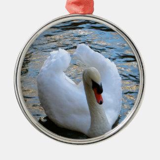 Swan Lake Metal Ornament