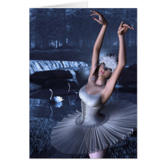 Swan Lake - Odette and Swans Greeting Cards