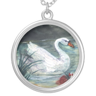 Swan Lake Silver Plated Necklace