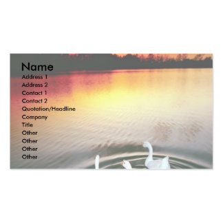 Swan lake sunset, Central Park, Huntington Beach, Double-Sided Standard Business Cards (Pack Of 100)