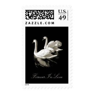 Swan Lake wedding stamps