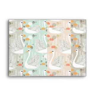 Swan Lily Pond Geo Multi Collage / Andrea Lauren Envelope