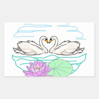Swan & Lily Rectangular Sticker