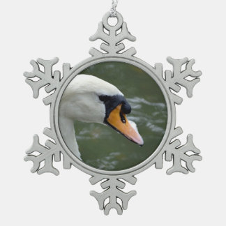 Swan looking right head view bird image ornament