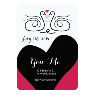 Swan Love - 5x7 Save the Date Invitation Bracket