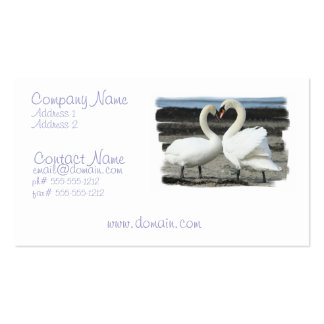 Swan Love Business Card