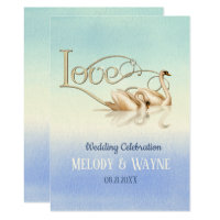 Swan Love Elegance Wedding Invitation