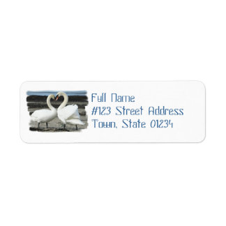 Swan Love Mailing Label
