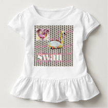 Swan Love Patterns Toddler T-shirt