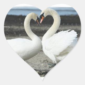 Swan Love Stickers