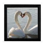 Swan Love Trinket Box