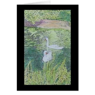 swan lovers card