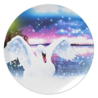 swan melamine plate