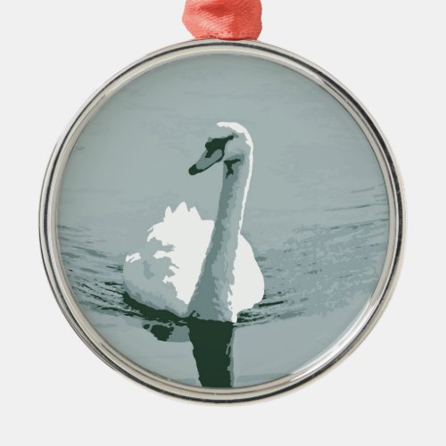 Swan Metal Ornament