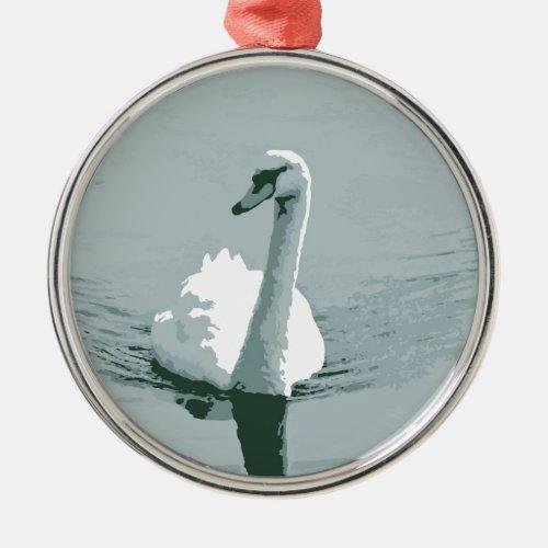 Swan Metal Ornament