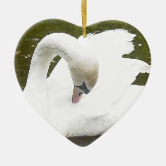 Swan of the Lake Ceramic Ornament