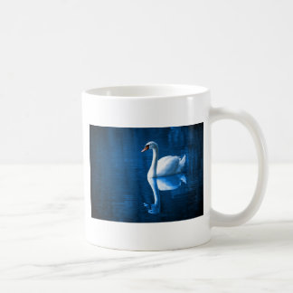 Swan on Lake Coffee Mugs