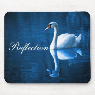 Swan On Lake Mouse Pad
