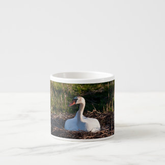 Swan on nest espresso cup