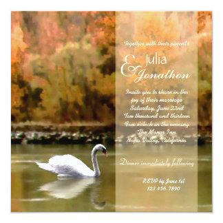 Swan on the Danube Wedding Invitation