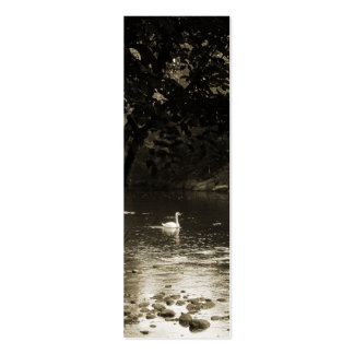 Swan on the River Bookmark Double-Sided Mini Business Cards (Pack Of 20)