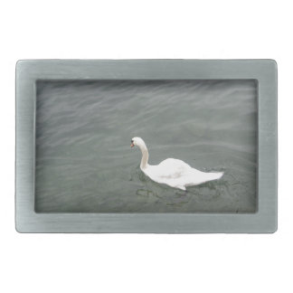 Swan on the shore of Lake Lucerne Belt Buckle