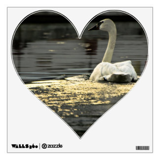 Swan on the water wall decal