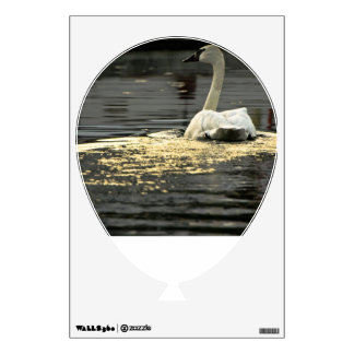 Swan on the water wall sticker