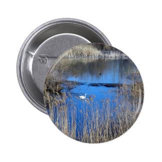 Swan On Tikvara Lake 2 Inch Round Button