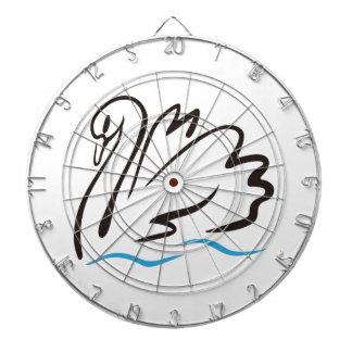 Swan Outline Dart Board