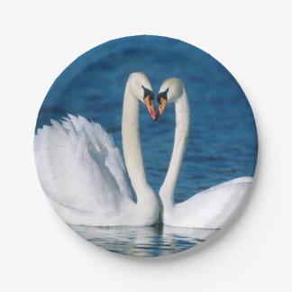 Swan Paper Plates