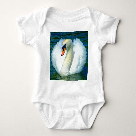 swan peace and joy baby bodysuit