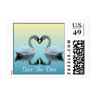 Swan Photo Save The Dates Postage Stamps