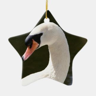 Swan Portrait Ceramic Ornament